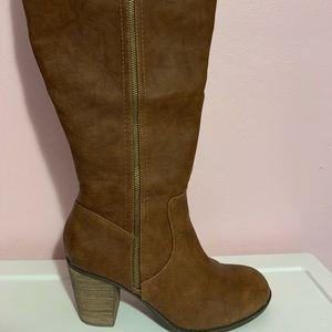 Brown knee boots